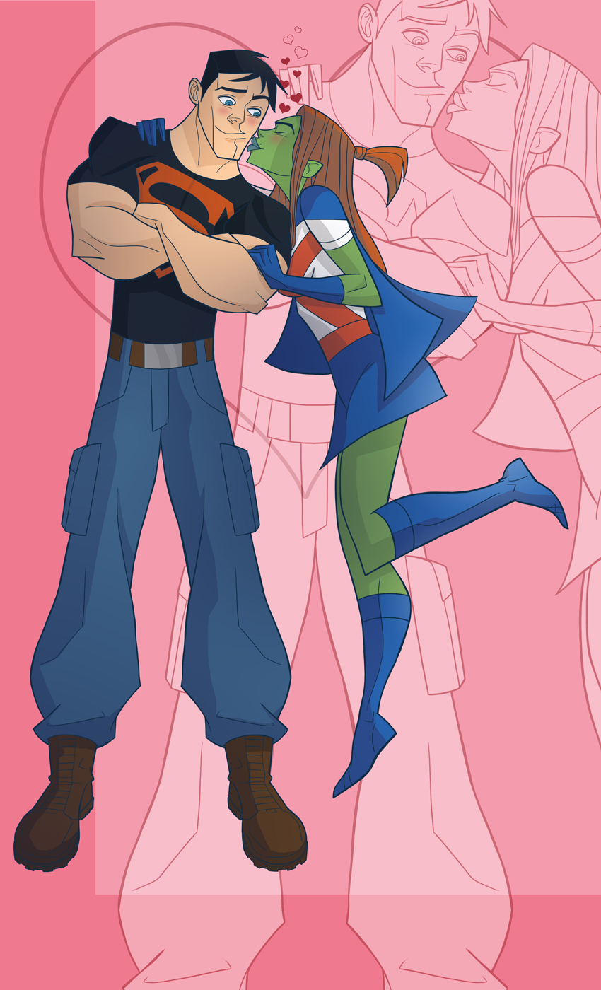 Super Boy and Ms. Martian by Drawaholic1124