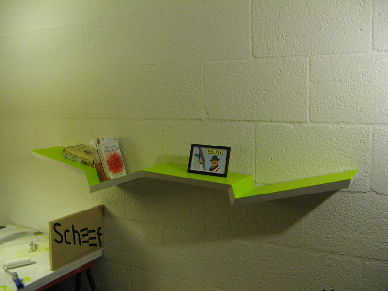 scheef design wall shelves by Heersch