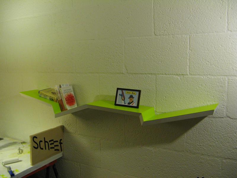 scheef design wall shelves by Heersch