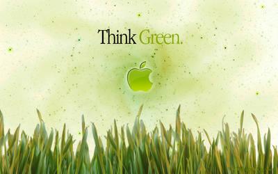 Apple wallpaper 2 green by Kageyoshi07