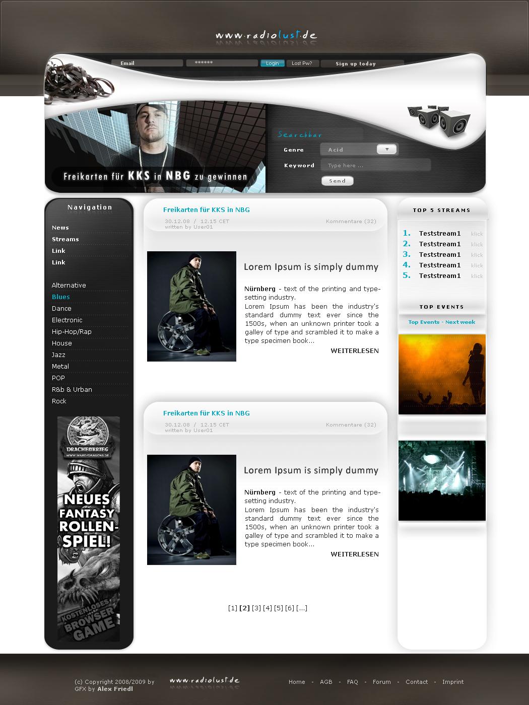 radiolust - easytemplates.org by AlexanderFriedl