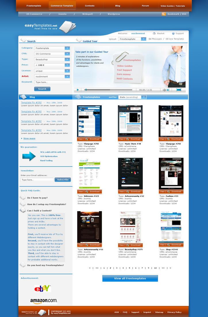 easyshop - easytemplates.org by AlexanderFriedl