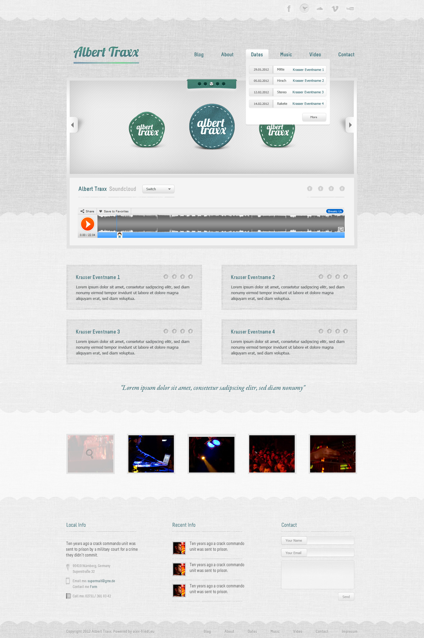 Bright DJ Template by AlexanderFriedl