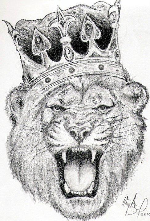 King Lion Tattoo Design By Carrieannnn On Deviantart