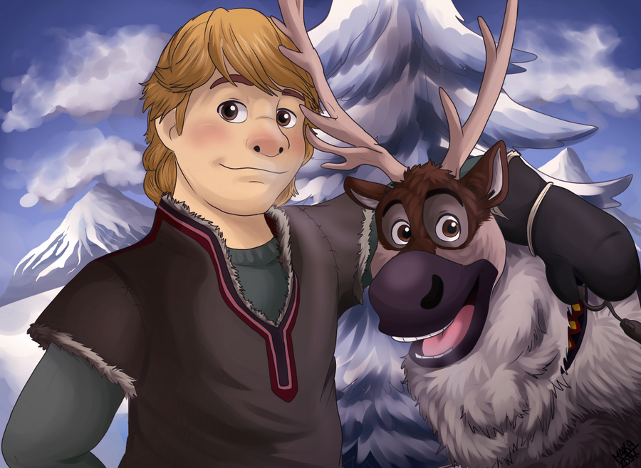 Drawing Of From Frozen Kristoff And Sven: Frozen By GralMaka On DeviantArt