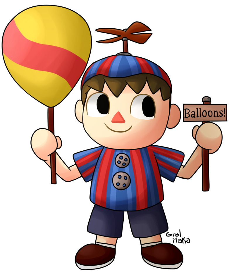 Villager Balloon Boy by GralMaka