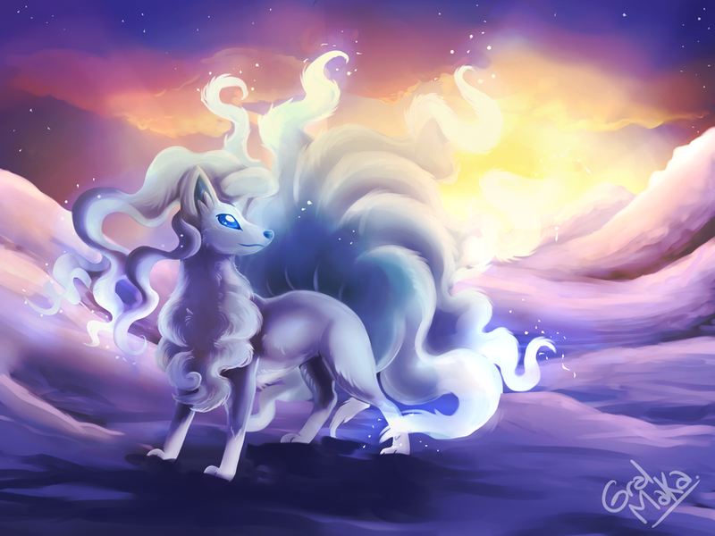 Ninetales Alola Form by GralMaka on DeviantArt