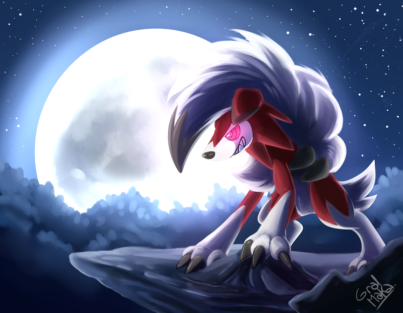 Lycanroc Midnight Form By Hintoart On Deviantart