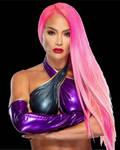 Eva Marie 2021 Pink Hair
