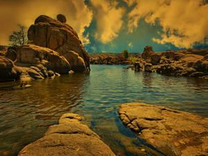Rocks at Watson lake