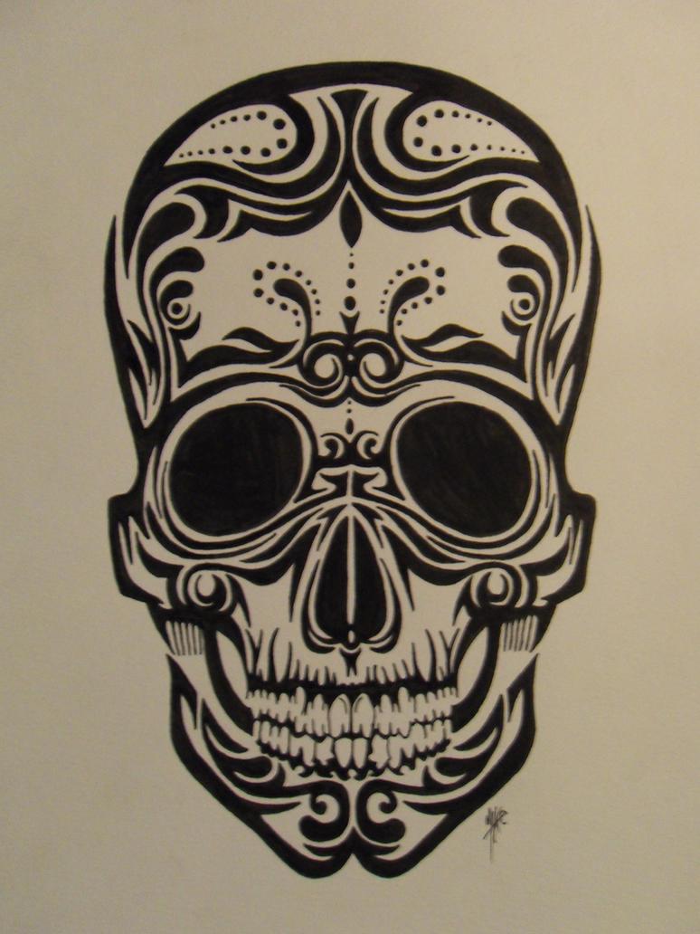 Maori Skull by MKRDESIGNS on