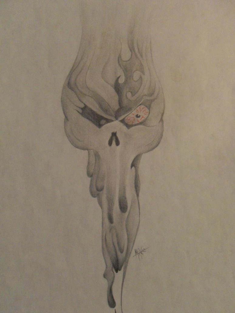melting skull by mkrdesigns on deviantart. Black Bedroom Furniture Sets. Home Design Ideas