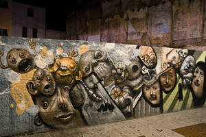 Graffiti, faces by kodemmacho