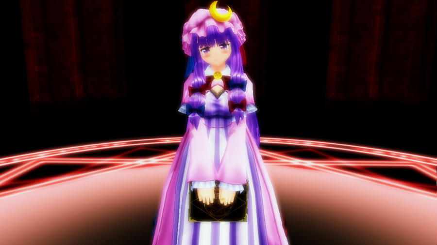 image 3d mmd patchouli knowledge dances to good luck