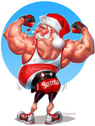 Flexin' santa by Loopydave