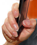 texting hand details