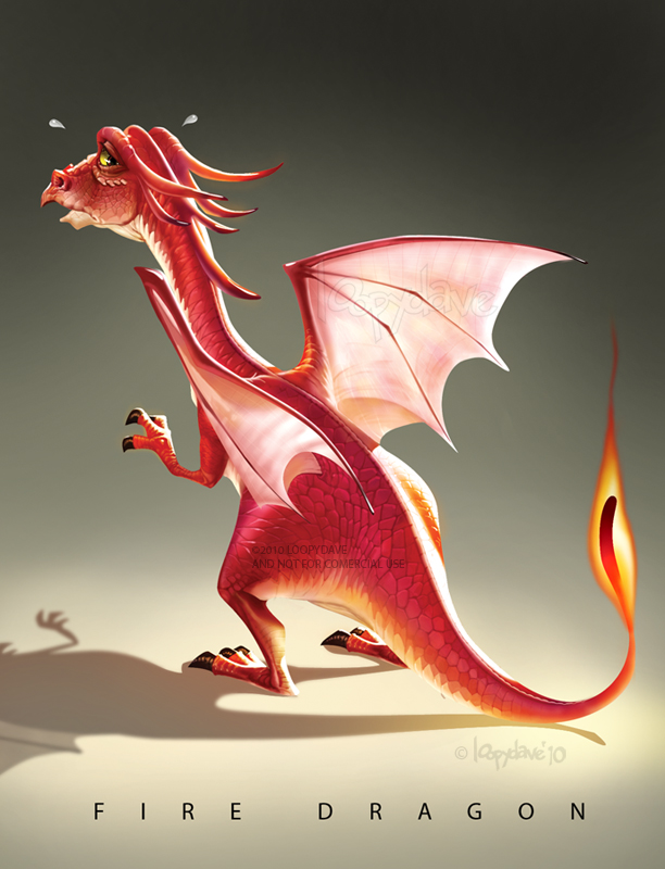 Fire Dragon by Loopydave on DeviantArt
