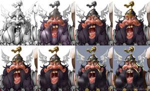 how I paint a drunken dwarf