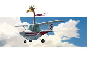 Flying giraffe by Loopydave