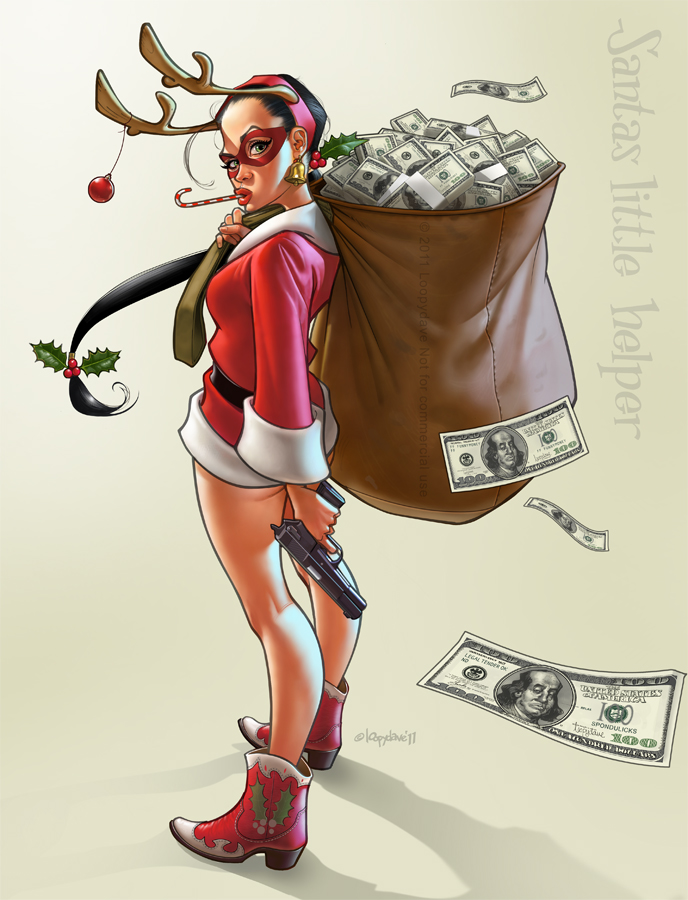 Santas little helper by Loopydave