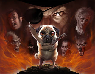 Apocalyptic pug by Loopydave
