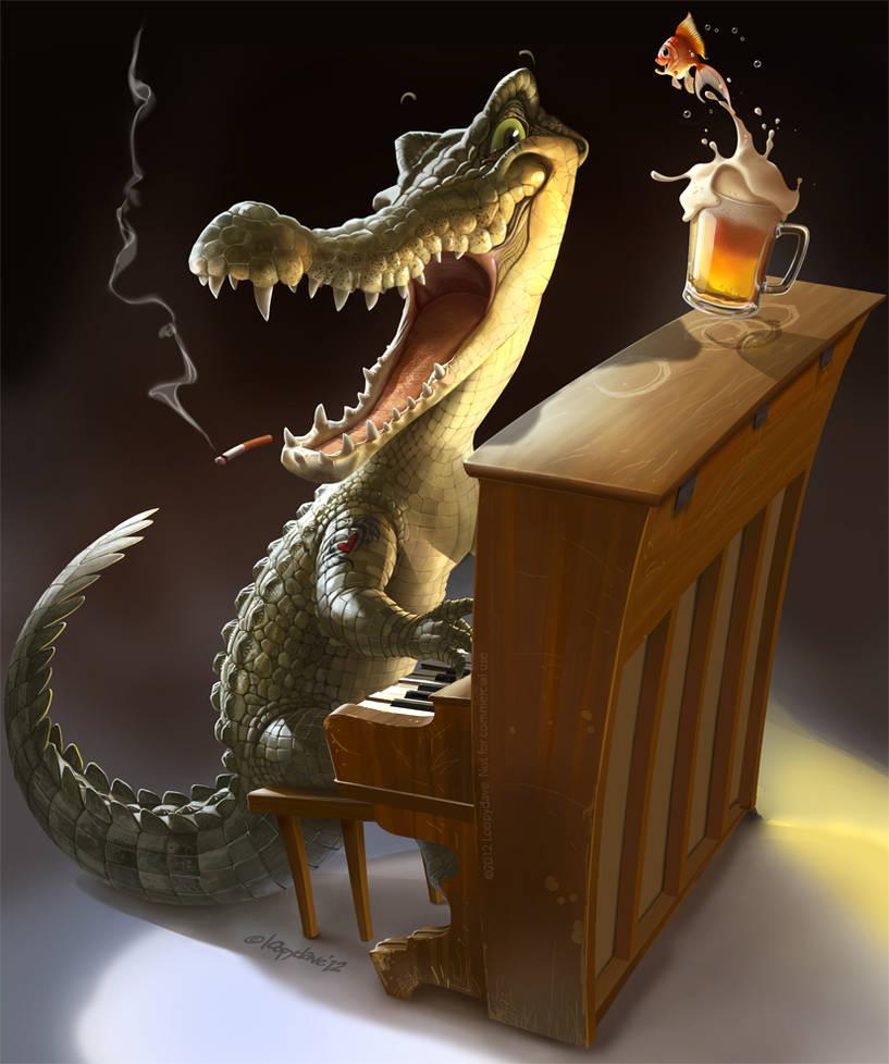Crocodile Rock by Loopydave