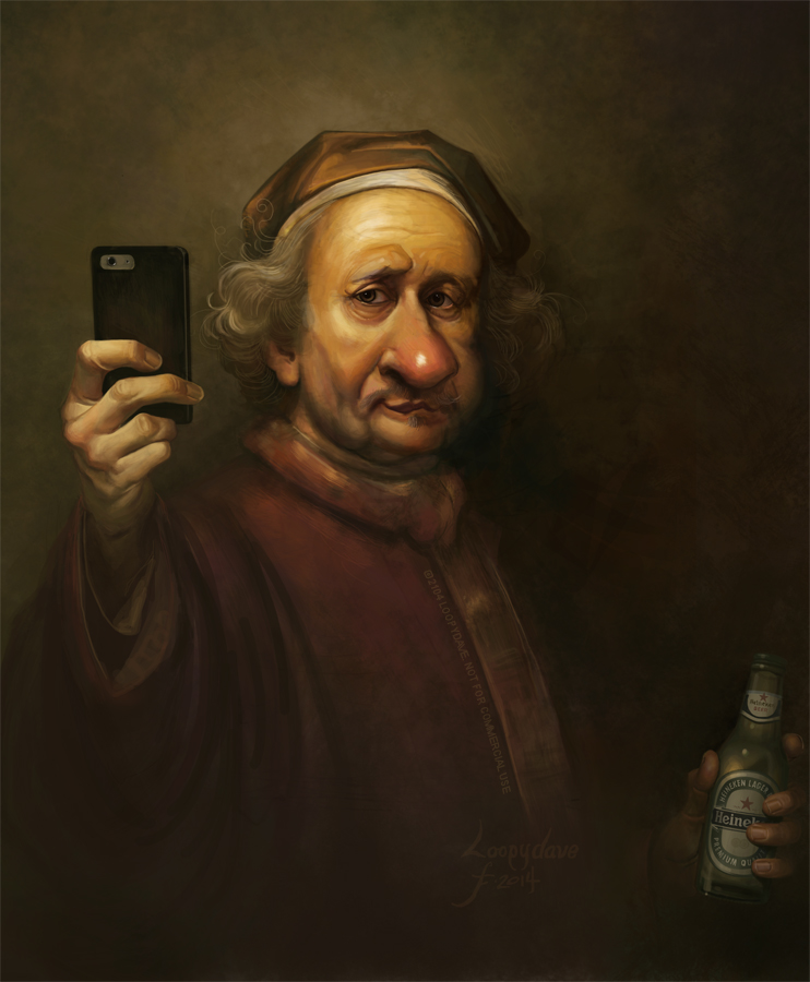 Rembrandt: Selfie 3192 by Loopydave