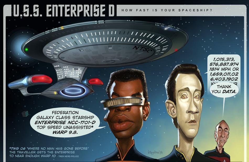 How fast is your spaceship? StarTrek