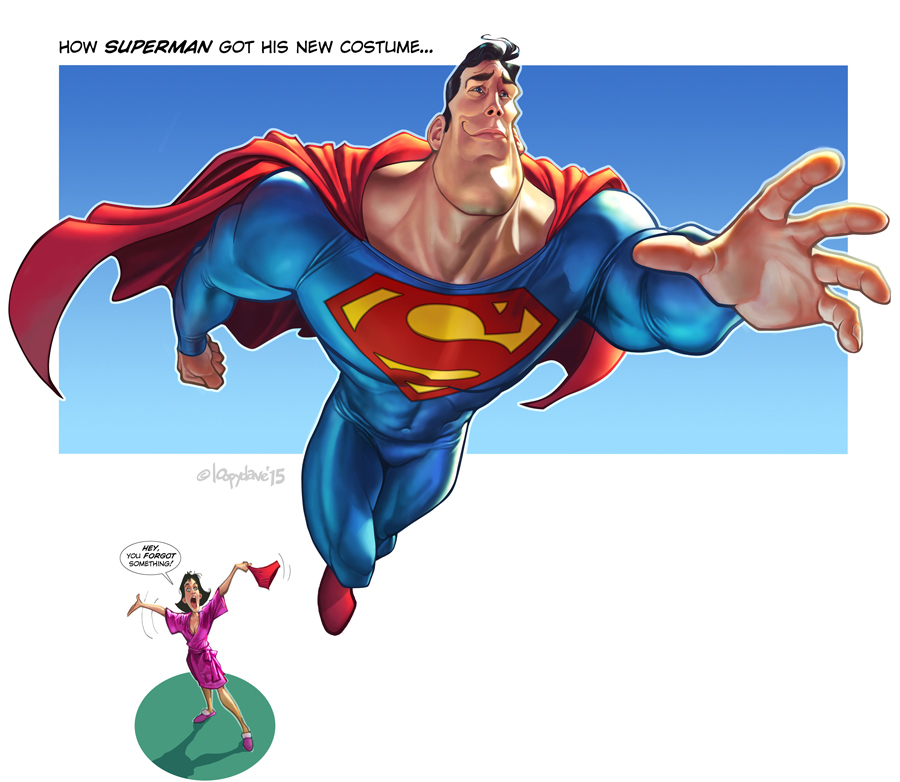Superman's new costume by Loopydave