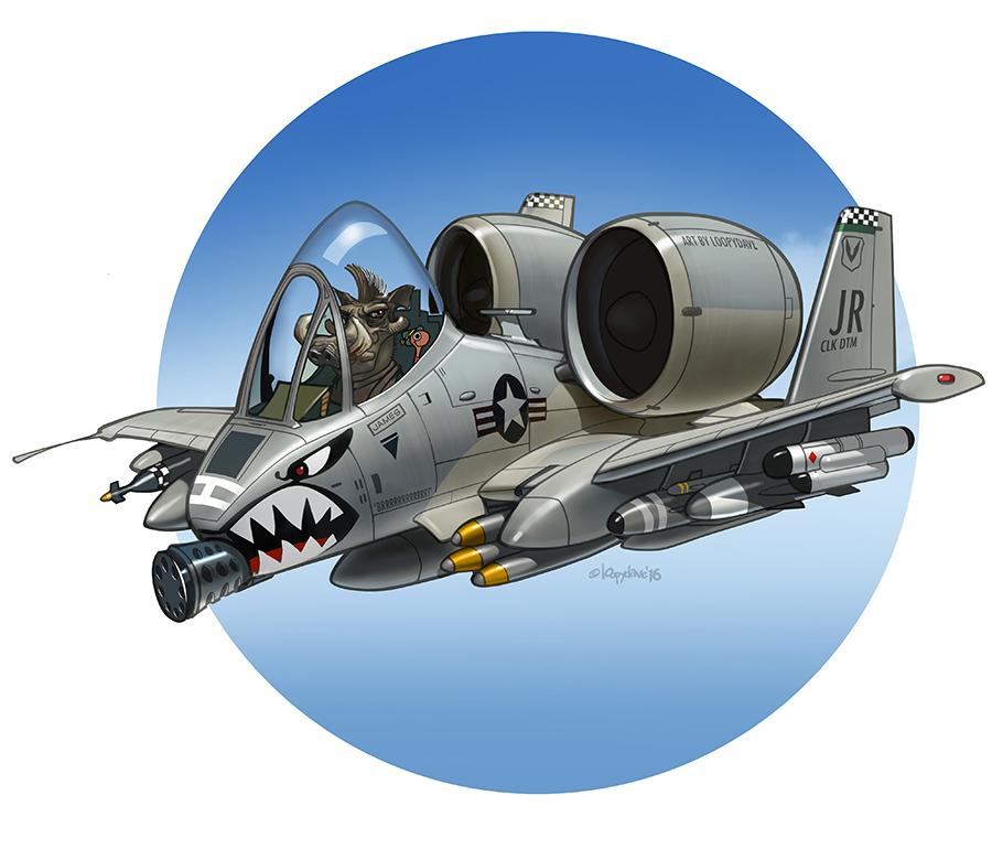 A 10 Thunderbolt Drawing Warthog says &#...