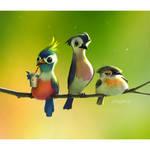 Attitude birds by Loopydave