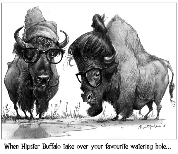 Hipster Bison by Loopydave