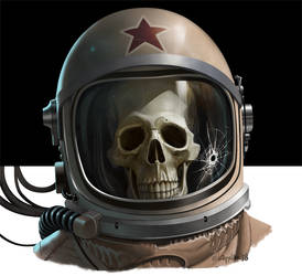 The skinny Cosmonaut by Loopydave