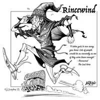 Inktober day02: Rincewind by Loopydave