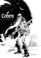 Inktober day03: Cohen the Barbarian by Loopydave