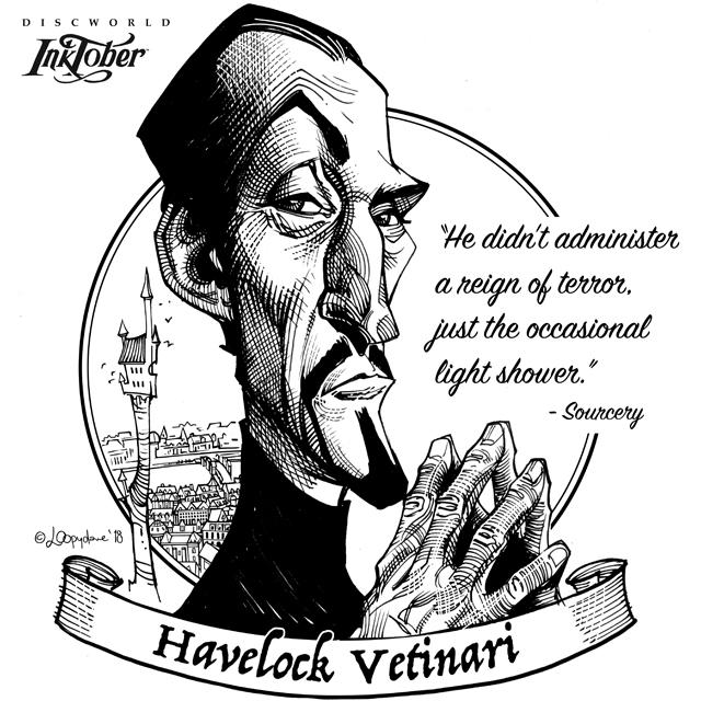 Inktober day06: Havelock Vetinari by Loopydave
