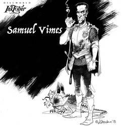 inktober number 9: Samuel Vimes by Loopydave