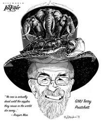 Final Inktober 2018: Terry Pratchett by Loopydave