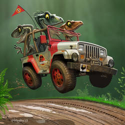 Jurassic Jeepin' by Loopydave