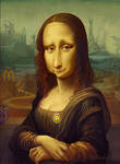 Bemused Woman with no eyebrows