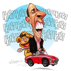 Comedians in a car
