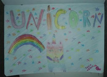 Unicorn cat at raibow by leno25