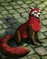 Pabu the Fire Ferret by Calypte