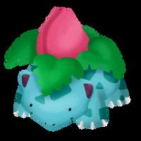 Fuzzy Ivysaur by albinoraven666fanart