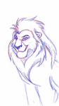 mystery lion - phone sketch by albinoraven666fanart