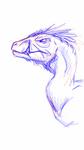 Gruff raptor sketch by albinoraven666fanart