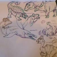Dino sketch dump by albinoraven666fanart