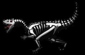 Halloween Dino Adopt - Skeletal Raptor by albinoraven666fanart