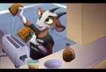 Yay Waffles! by albinoraven666fanart