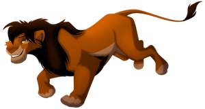 Running Maned-Lioness